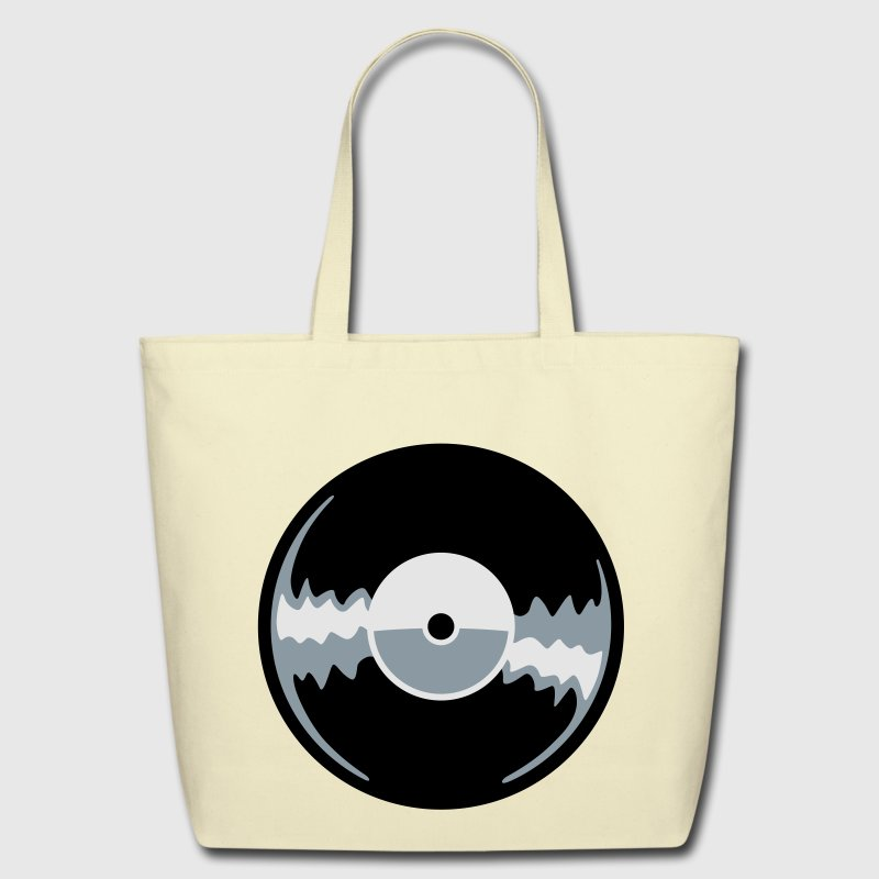 vinyl record Bags  - Eco-Friendly Cotton Tote