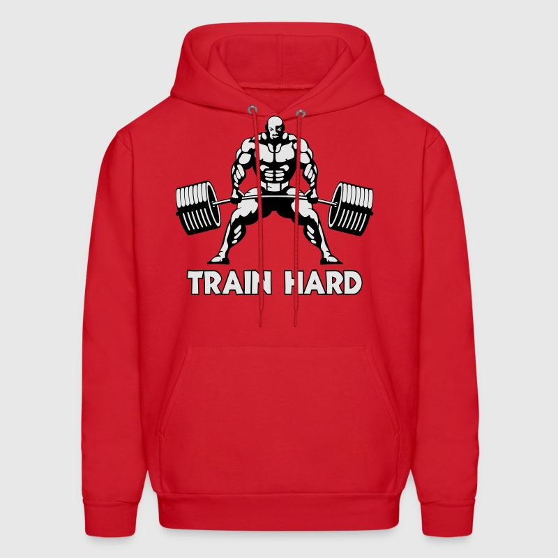 train hard - Men's Hoodie