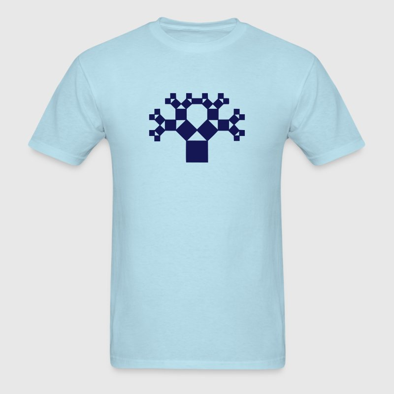 Pythagoras tree, fractal - patterns of creation T-Shirts - Men's T-Shirt