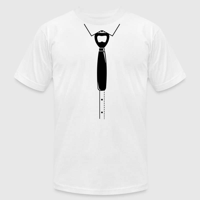 Bottle opener as a tie | Bachelor Party Shirt T-Shirts - Men's T-Shirt by American Apparel