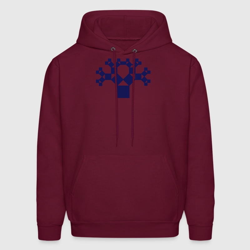 Pythagoras tree, fractal - patterns of creation Hoodies - Men's Hoodie
