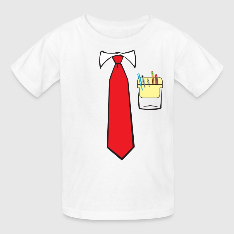 Tie and Pocket Protector Kids' Shirts - Kids' T-Shirt