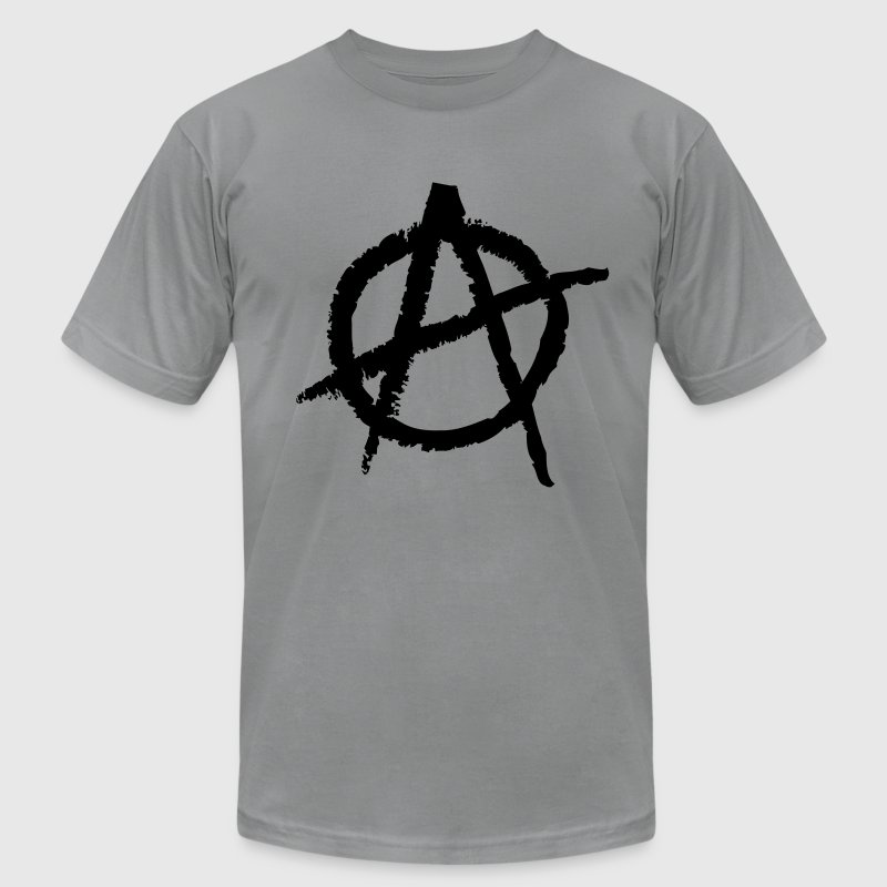 Anarchy Symbol T-Shirts - Men's T-Shirt by American Apparel