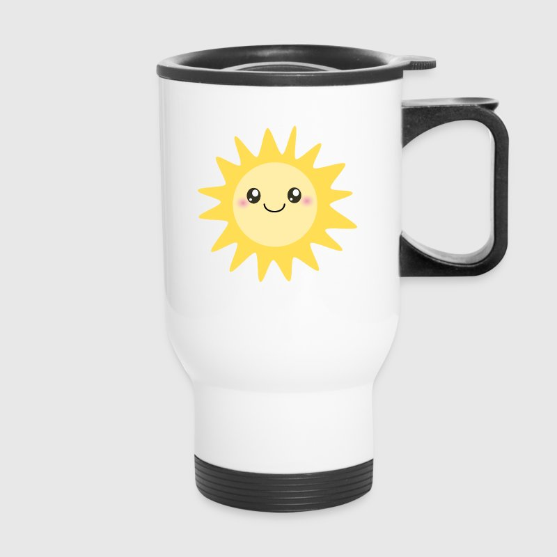 Cute happy sun - Travel Mug