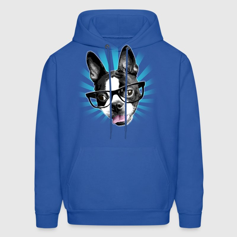 Cute! Hipster Boston Terrier - Men's Hoodie