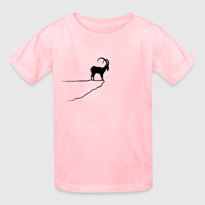 ibex capricorn mountain goat sheep rock climbing Women's T-Shirts - Kids' T-Shirt