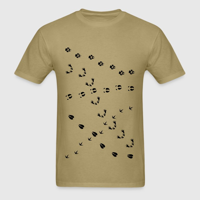 animal track tracks slot scent trail outdoor deer T-Shirts - Men's T-Shirt