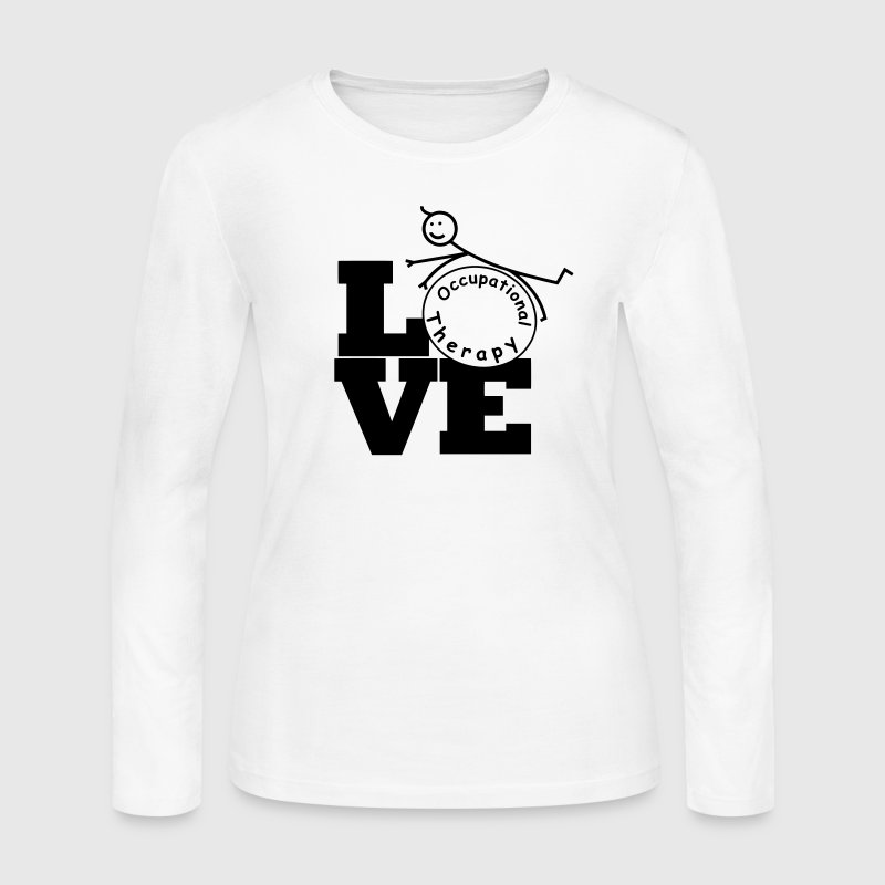 LOVE Occupational Therapy Long Sleeve Shirts - Women's Long Sleeve Jersey T-Shirt