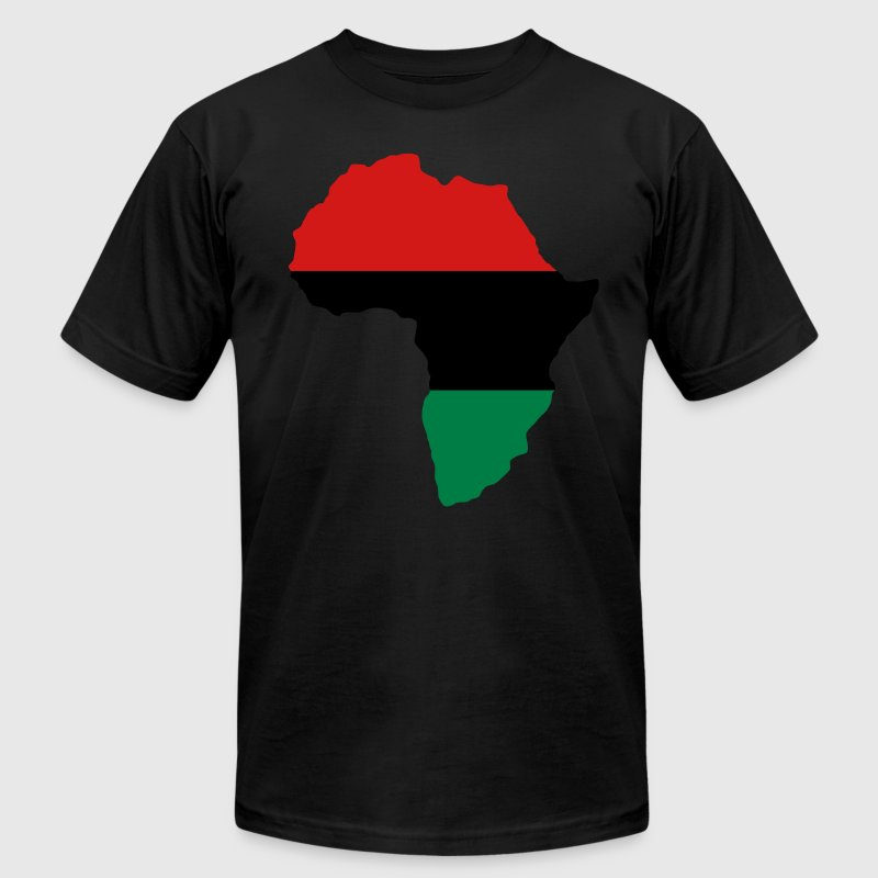 Green, Gold (Yellow) & Red Africa T-Shirts - Men's T-Shirt by American Apparel