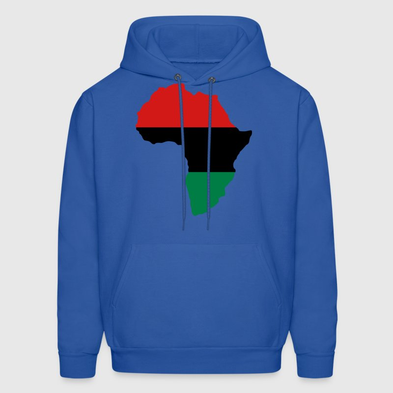 Red, Black & Green Africa Flag Hoodies - Men's Hoodie