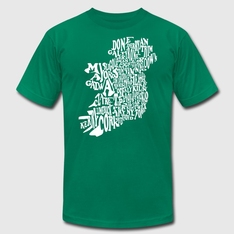 County Word Map Irish Celtic Apparel T-Shirts - Men's Fine Jersey T-Shirt