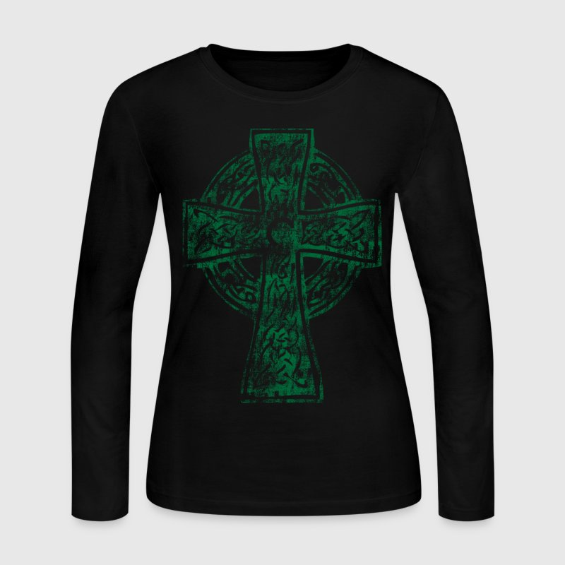 Celtic Cross Irish Celtic Apparel Long Sleeve Shirts - Women's Long Sleeve Jersey T-Shirt
