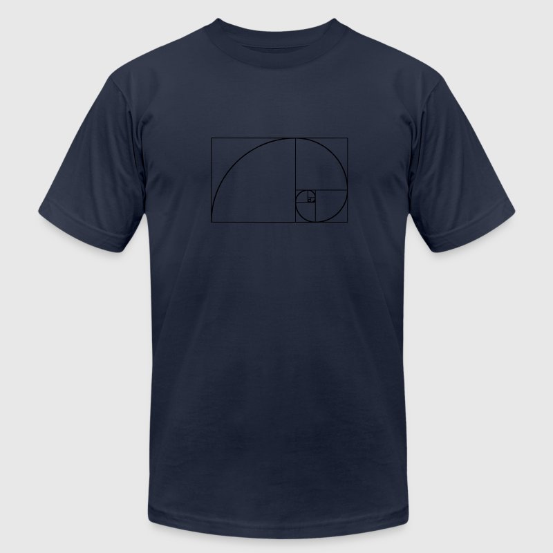 Golden Spiral, Golden Ratio, Phi, Fibonacci T-Shirts - Men's T-Shirt by American Apparel
