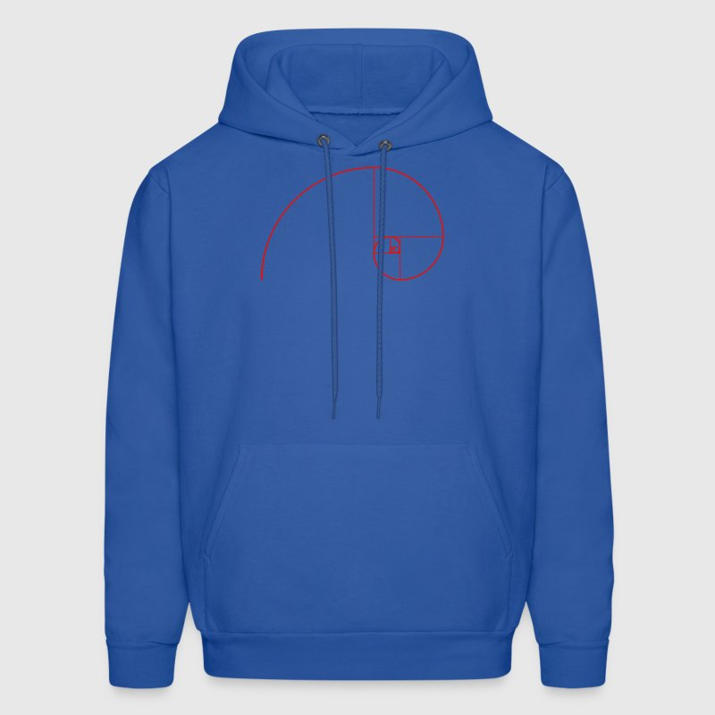 Golden Ratio, Fibonacci, Phi, spiral, geometry Hoodies - Men's Hoodie