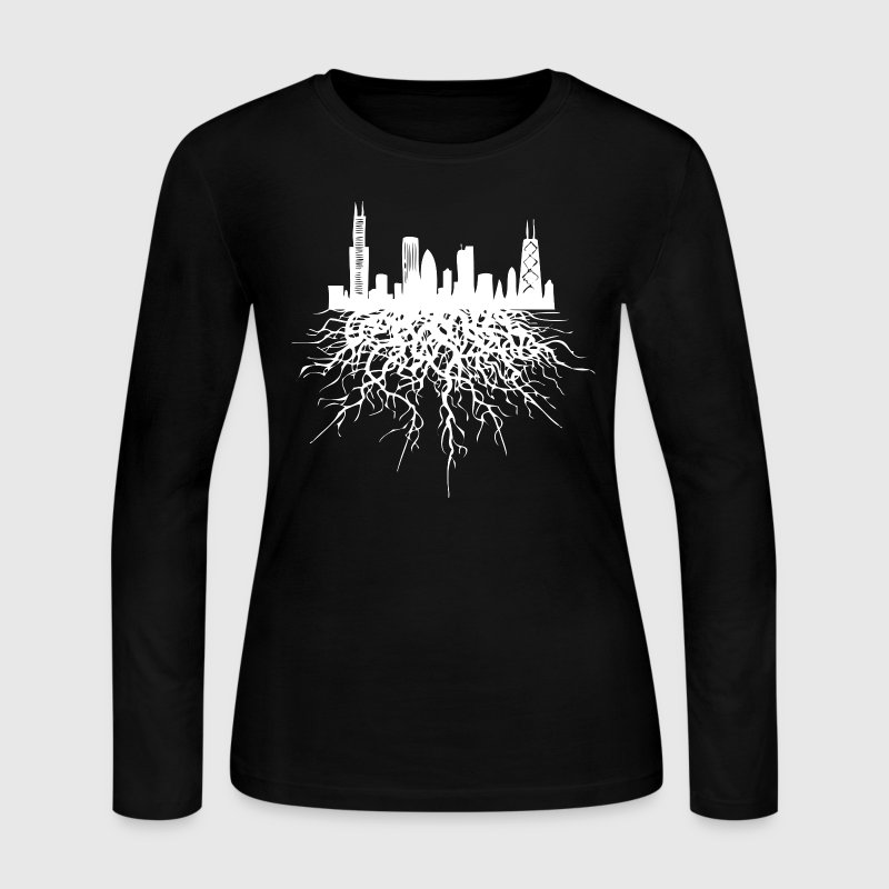 Chicago Roots Chicago Hoody Long Sleeve Shirts - Women's Long Sleeve Jersey T-Shirt