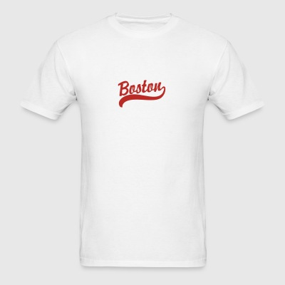 Boston Cursive Back to Beantown Baby & Toddler Shirts - Men's T-Shirt