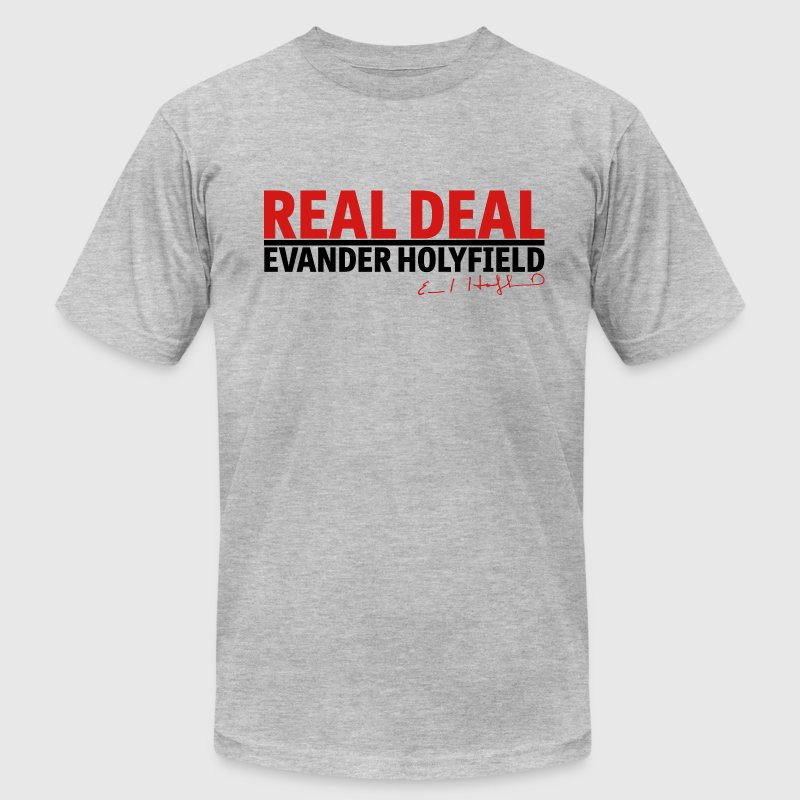 Real Deal Evander Holyfield w/ sig mp T-Shirts - Men's Fine Jersey T-Shirt