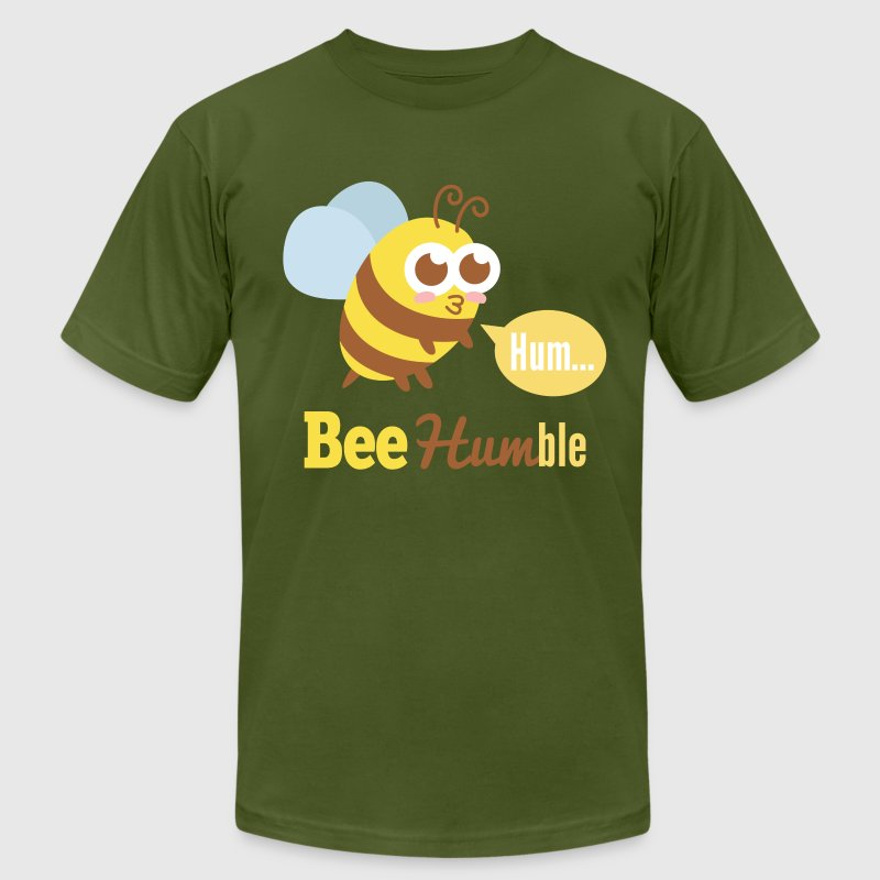 Funny cartoon on bee humble T-Shirts - Men's T-Shirt by American Apparel