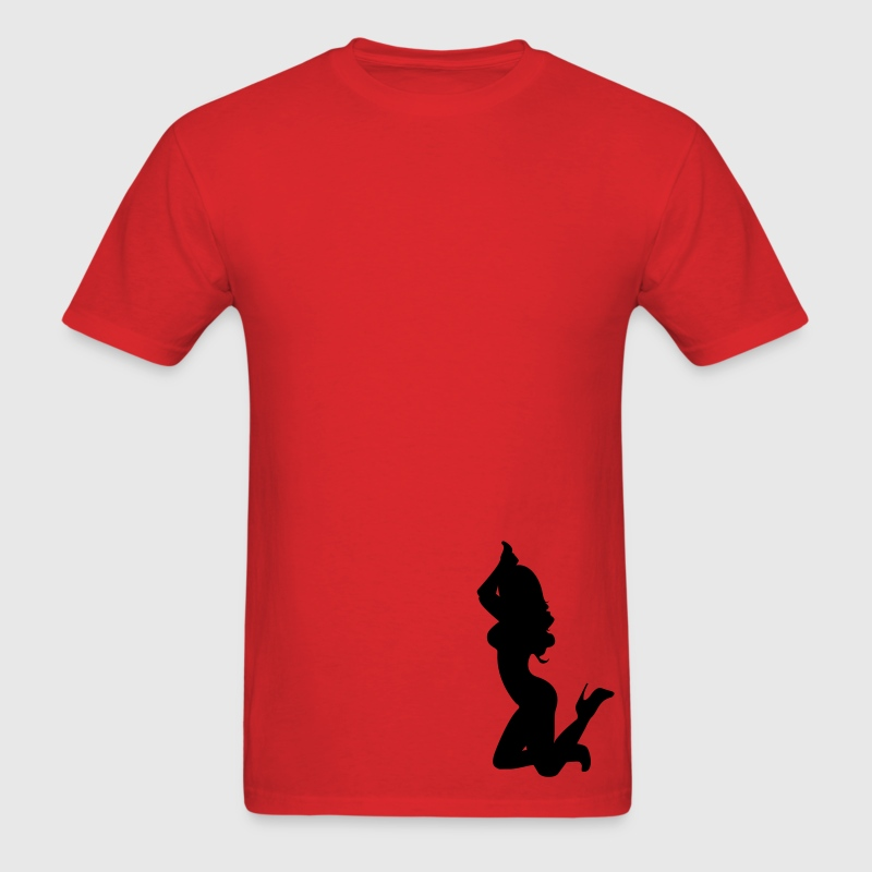 sexy silhouette kneeling - Men's T-Shirt