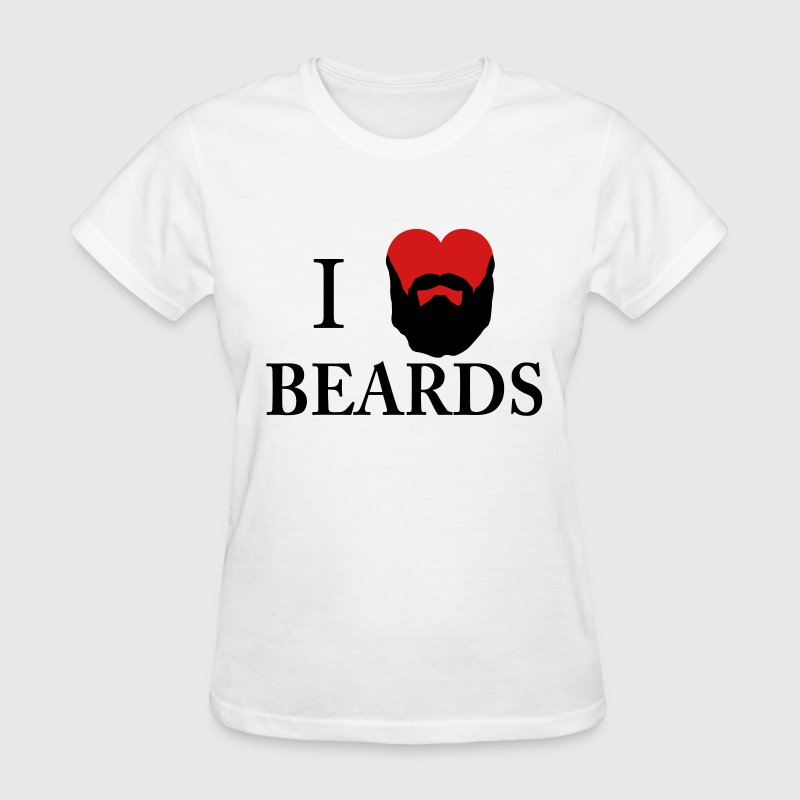 I Heart Beards Women's T-Shirts - Women's T-Shirt