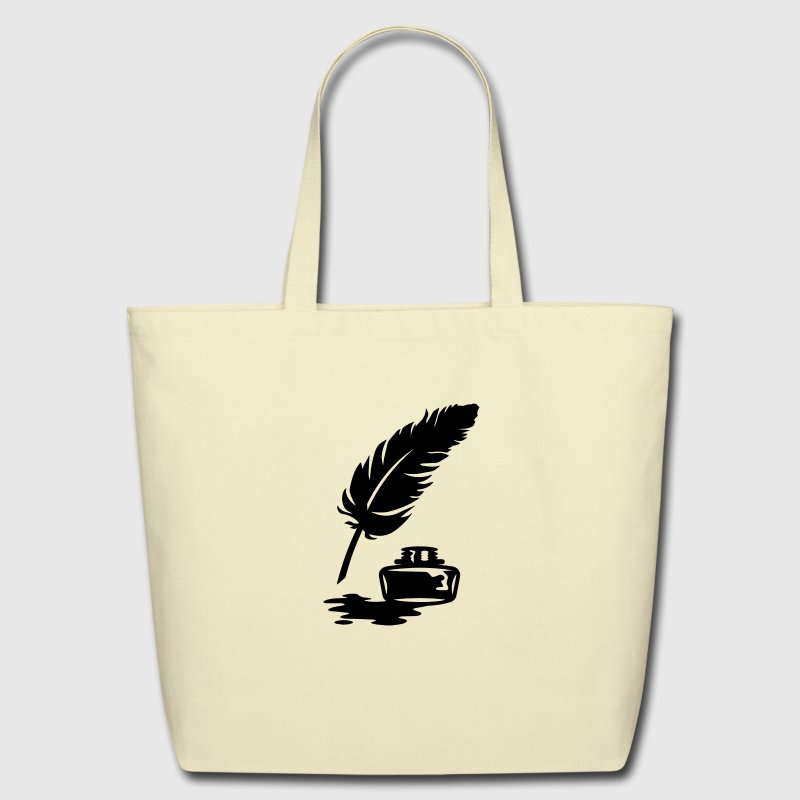 Quill Pen and Ink Pot Bags  - Eco-Friendly Cotton Tote