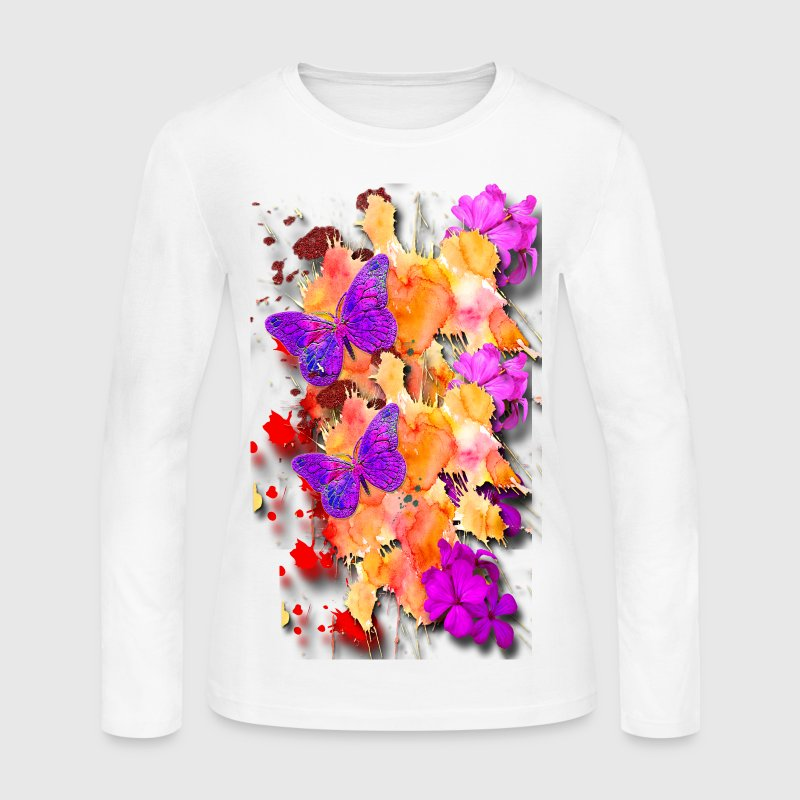 Flower Garden - Women's Long Sleeve Jersey T-Shirt