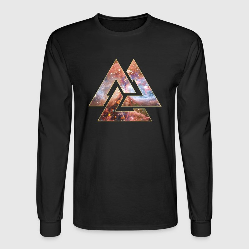 Cosmic Valknut Long Sleeve Shirts - Men's Long Sleeve T-Shirt