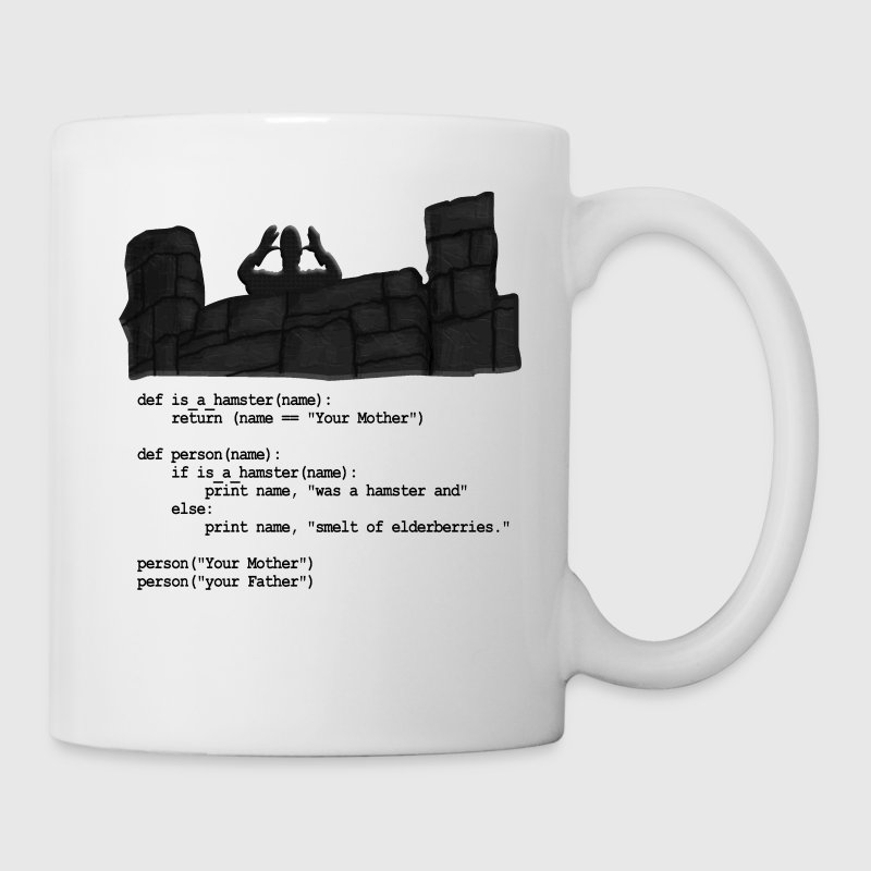 Python Code  - Your Mother was a hamster Bottles & Mugs - Coffee/Tea Mug