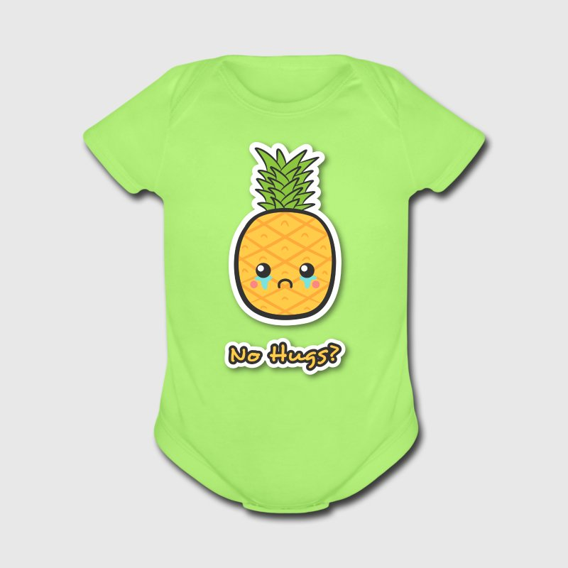 sad but cute pineapple that does not get any hugs Baby & Toddler Shirts - Short Sleeve Baby Bodysuit