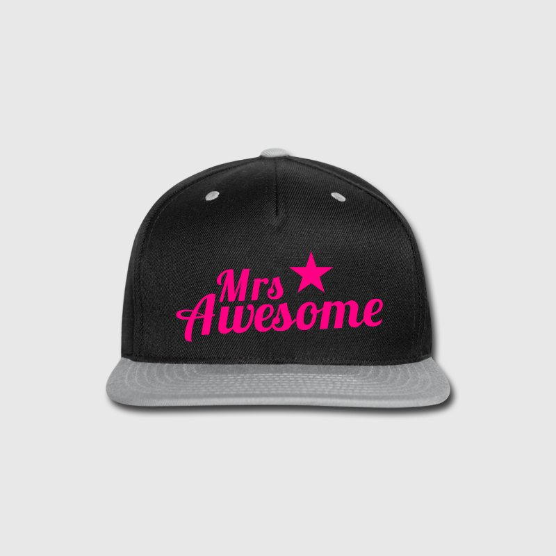 MRS AWESOME with a sexy pink star Caps - Snap-back Baseball Cap