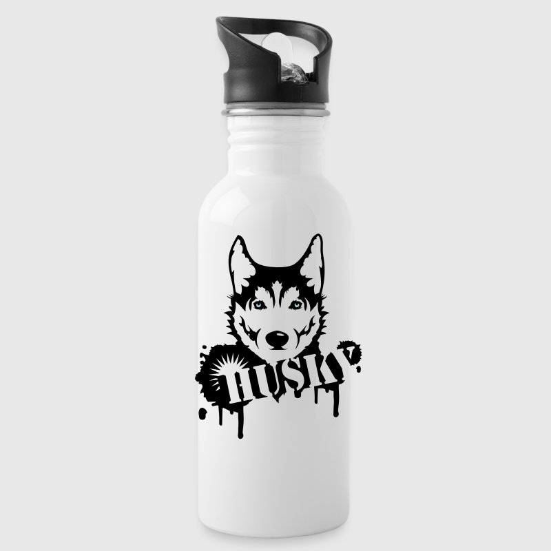 A husky dog graffiti Bottles & Mugs - Water Bottle