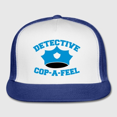 Funny DETECTIVE police man hat COP-A-FEEL Phone & Tablet Cases - Trucker Cap