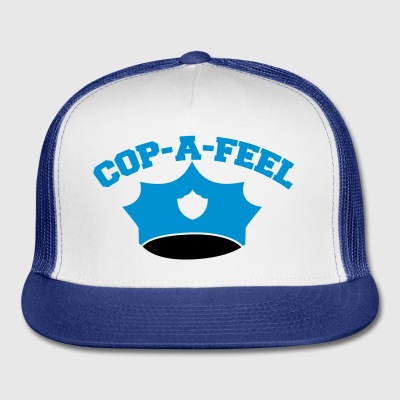 Funny police man hat COP-A-FEEL Phone & Tablet Cases - Trucker Cap