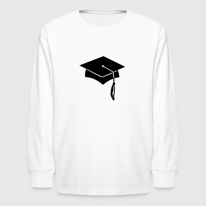 graduation college hat Kids' Shirts - Kids' Long Sleeve T-Shirt