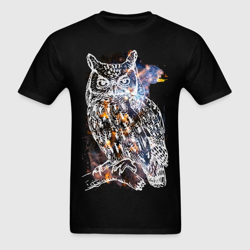 Galactic owl t shirt spreadshirt T shirt with owl design