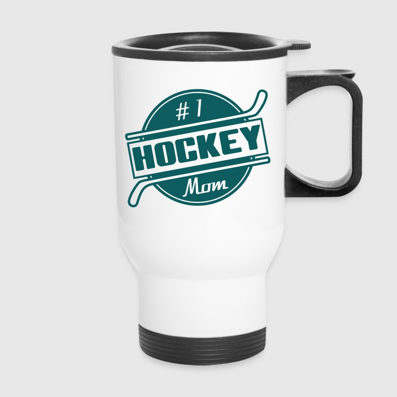 #1 Hockey Mom Bottles & Mugs - Travel Mug