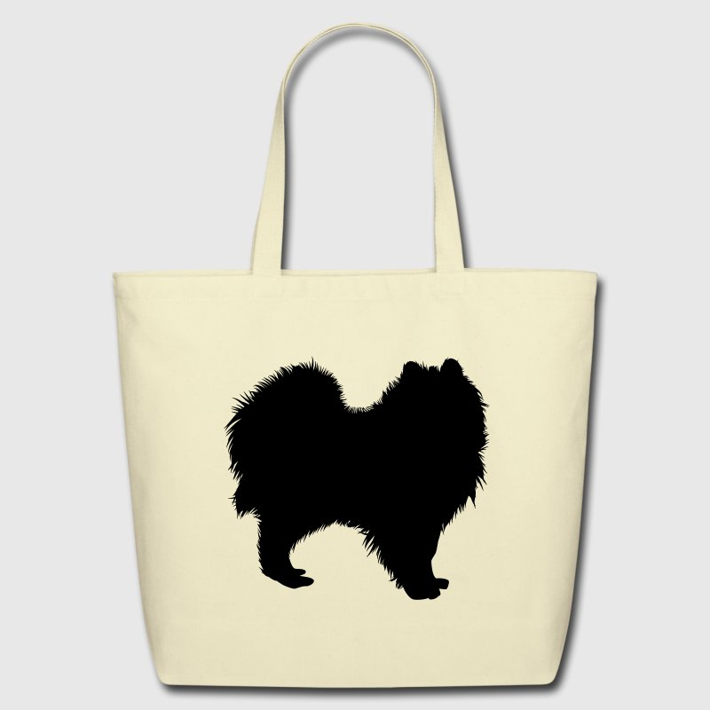 dog silhouette pomeranian Bags & backpacks - Eco-Friendly Cotton Tote