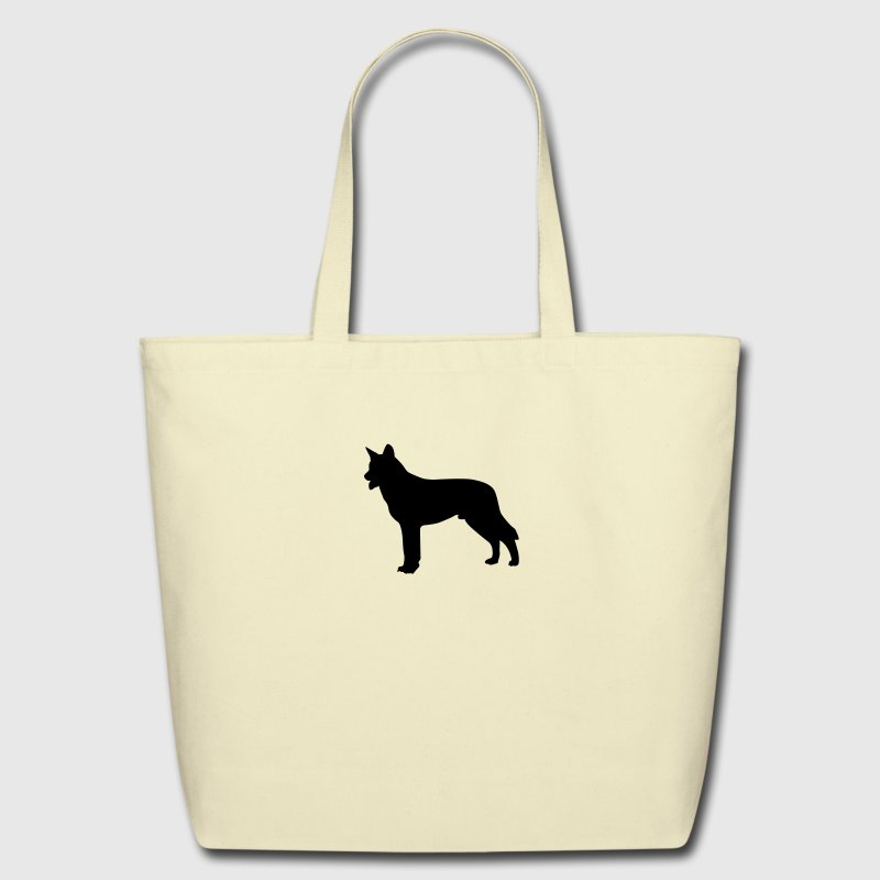 german shepherd silhouette Bags & backpacks - Eco-Friendly Cotton Tote