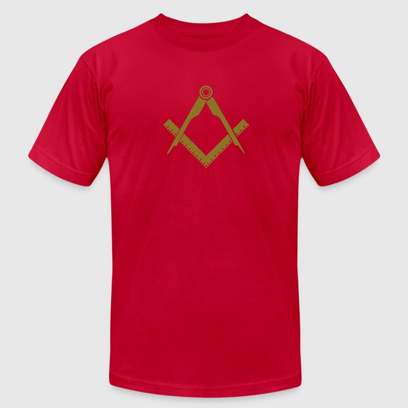 Masonic symbol, squaring the circle, freemason T-Shirts - Men's Fine Jersey T-Shirt