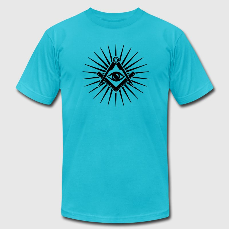 Masonic symbol, all seeing eye, freemason T-Shirts - Men's Fine Jersey T-Shirt