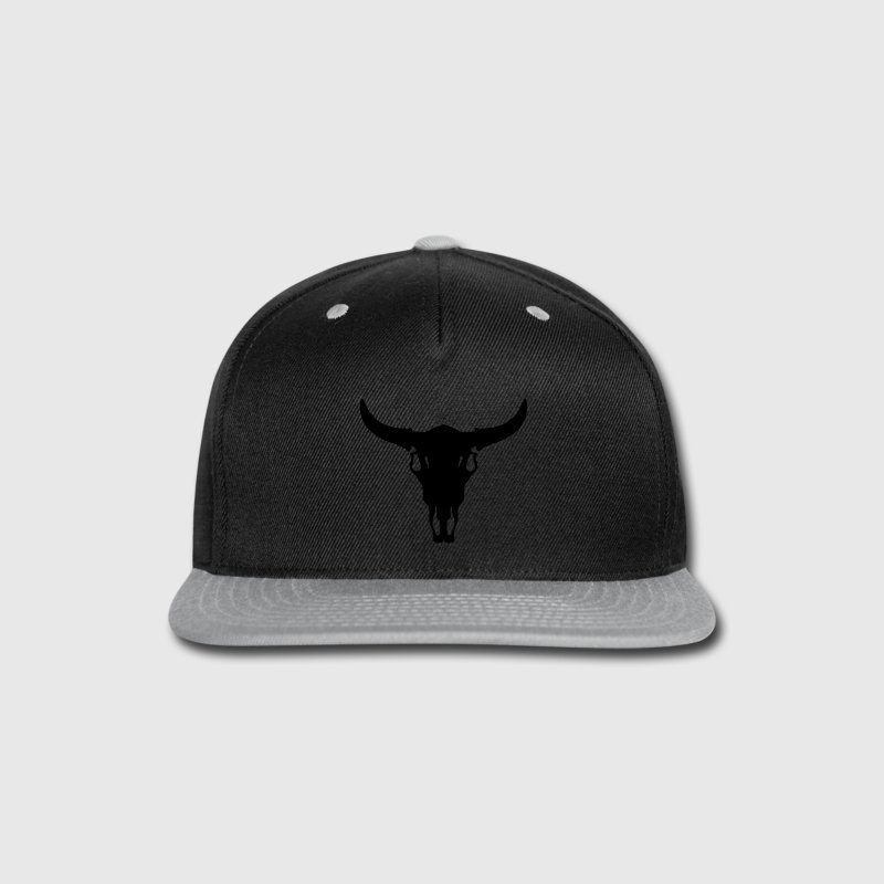 Cow/Bull Skull Caps - Snap-back Baseball Cap