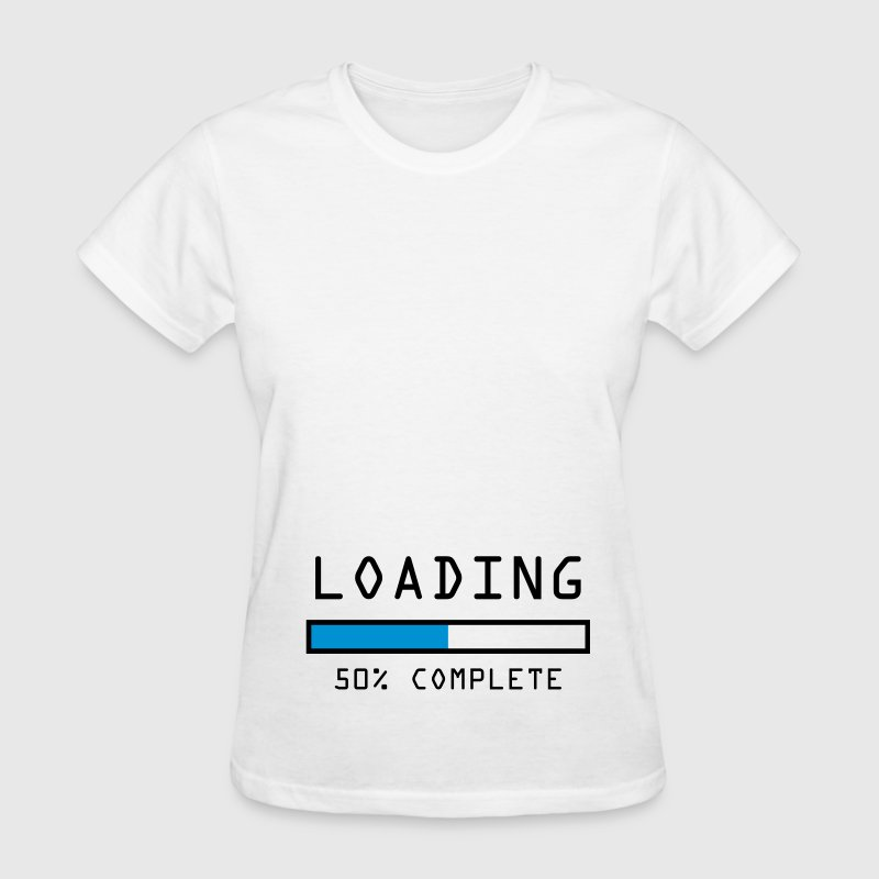 Women's pregnancy announcement t-shirt Loading 50 - Women's T-Shirt