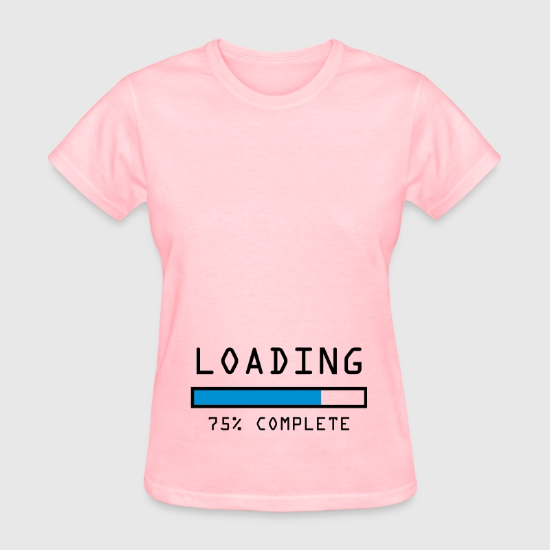 Women's pregnancy announcement t-shirt Loading 75 - Women's T-Shirt