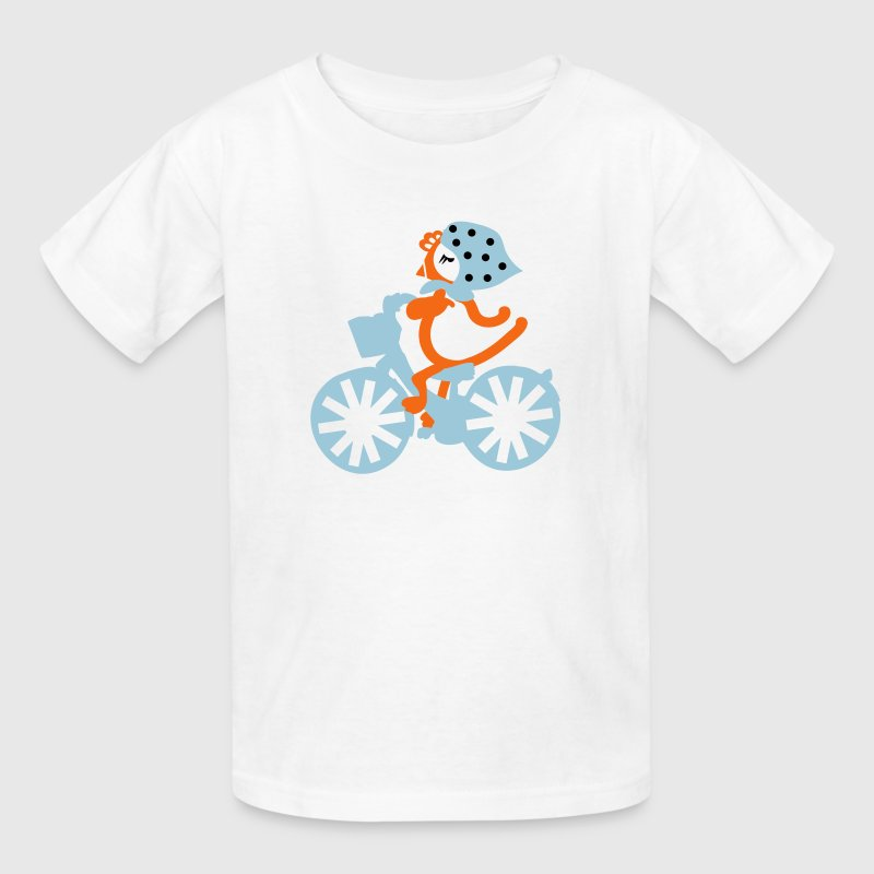 Hen Chicken riding bicycle  Kid's T-shirt - Kids' T-Shirt
