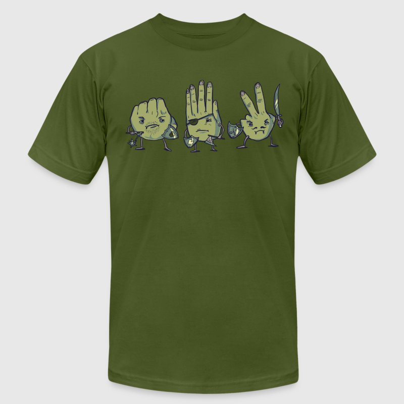 Rock Paper Scissors T-Shirts - Men's T-Shirt by American Apparel
