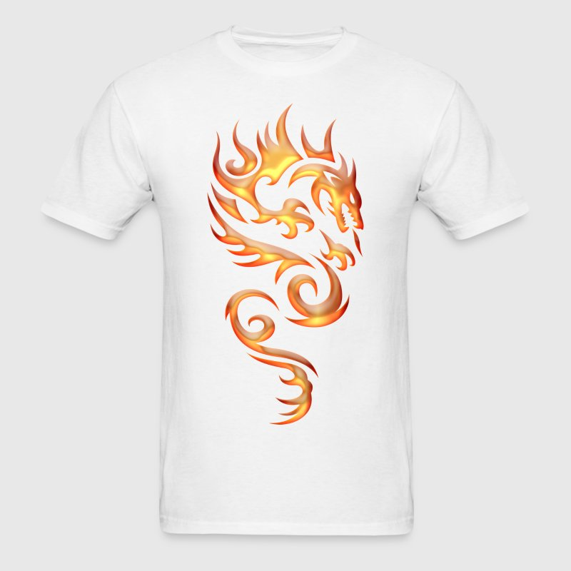 Tribal Fire Dragon T-Shirts - Men's T-Shirt