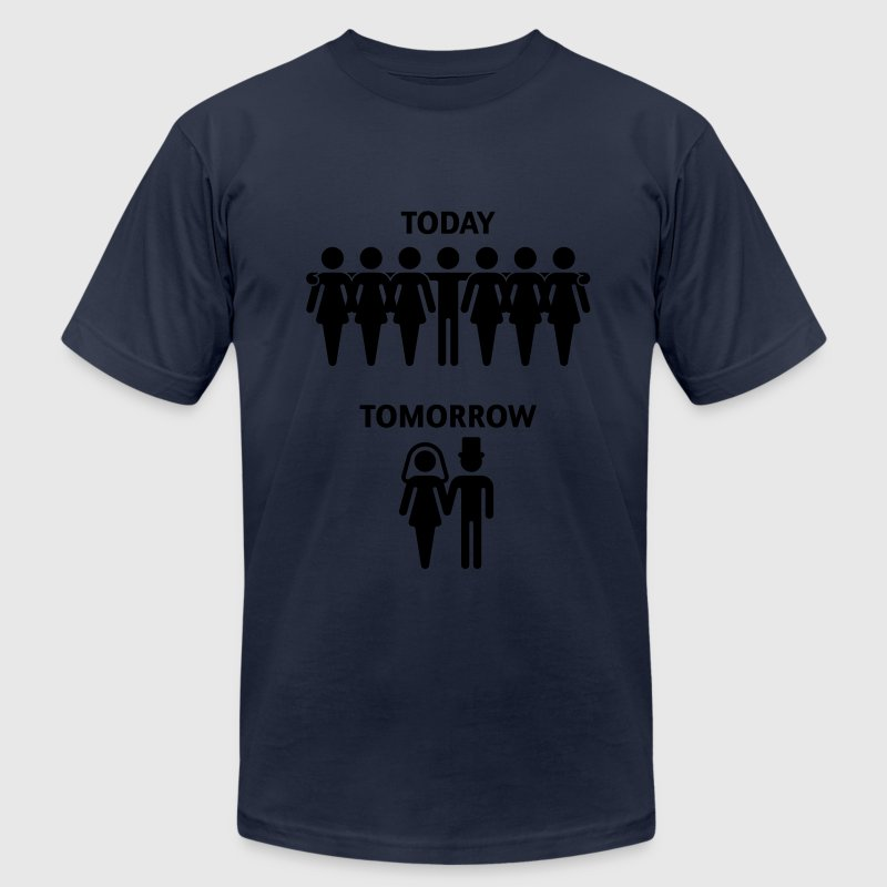 Today - Tomorrow (Stag Night / Bachelor Party) T-Shirts - Men's T-Shirt by American Apparel