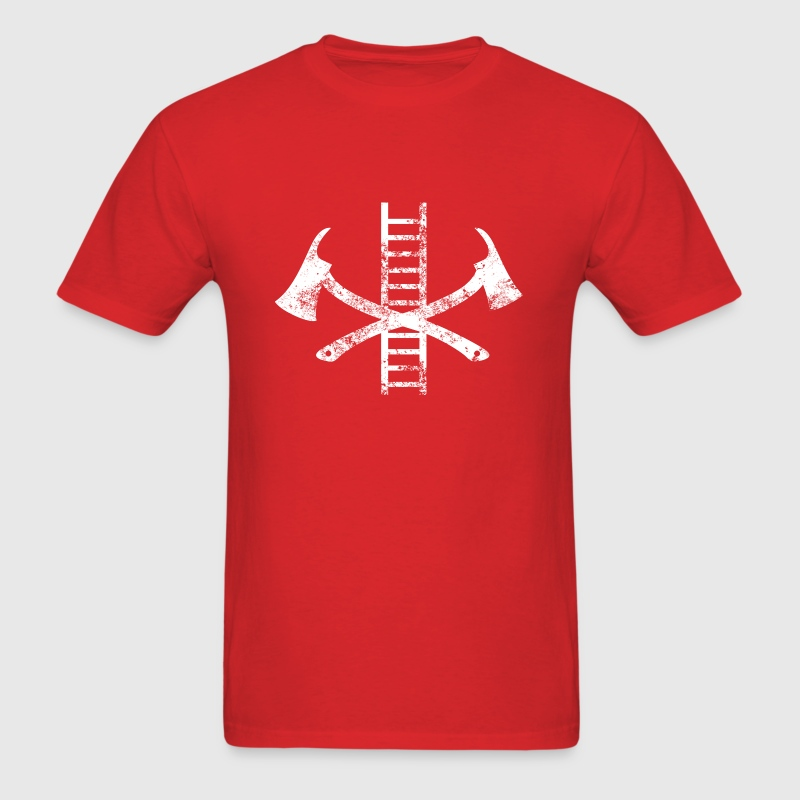 Vintage Firefighter Symbol T-Shirts - Men's T-Shirt