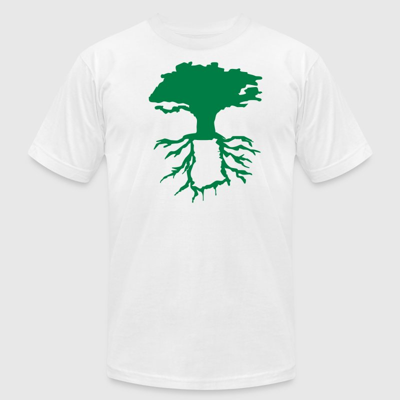 Ghana Roots Tree T-Shirts - Men's T-Shirt by American Apparel