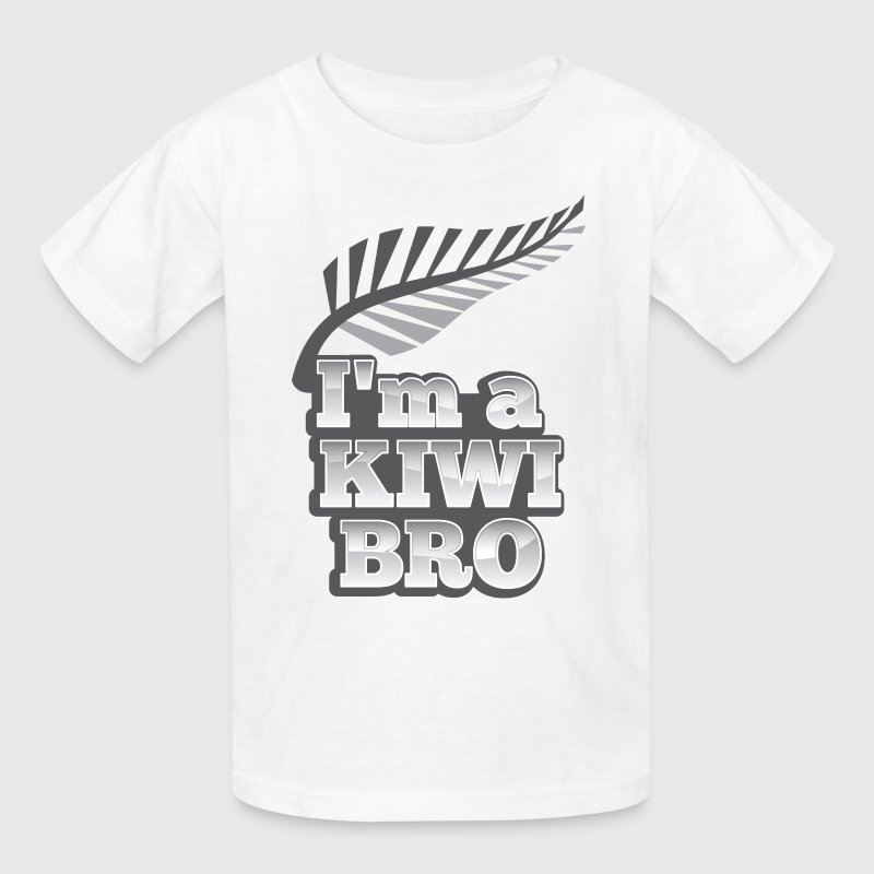 I'm a kiwi BRO in silver NEW ZEALAND Kids' Shirts - Kids' T-Shirt